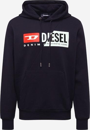 DIESEL Sweatshirt 'S-Girrk-Hood-Cuty' in rot / schwarz / weiß, Produktansicht