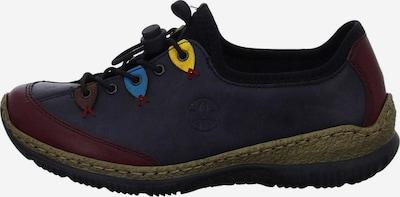 Pantofi cu șireturi RIEKER pe navy / bordeaux, Vizualizare produs