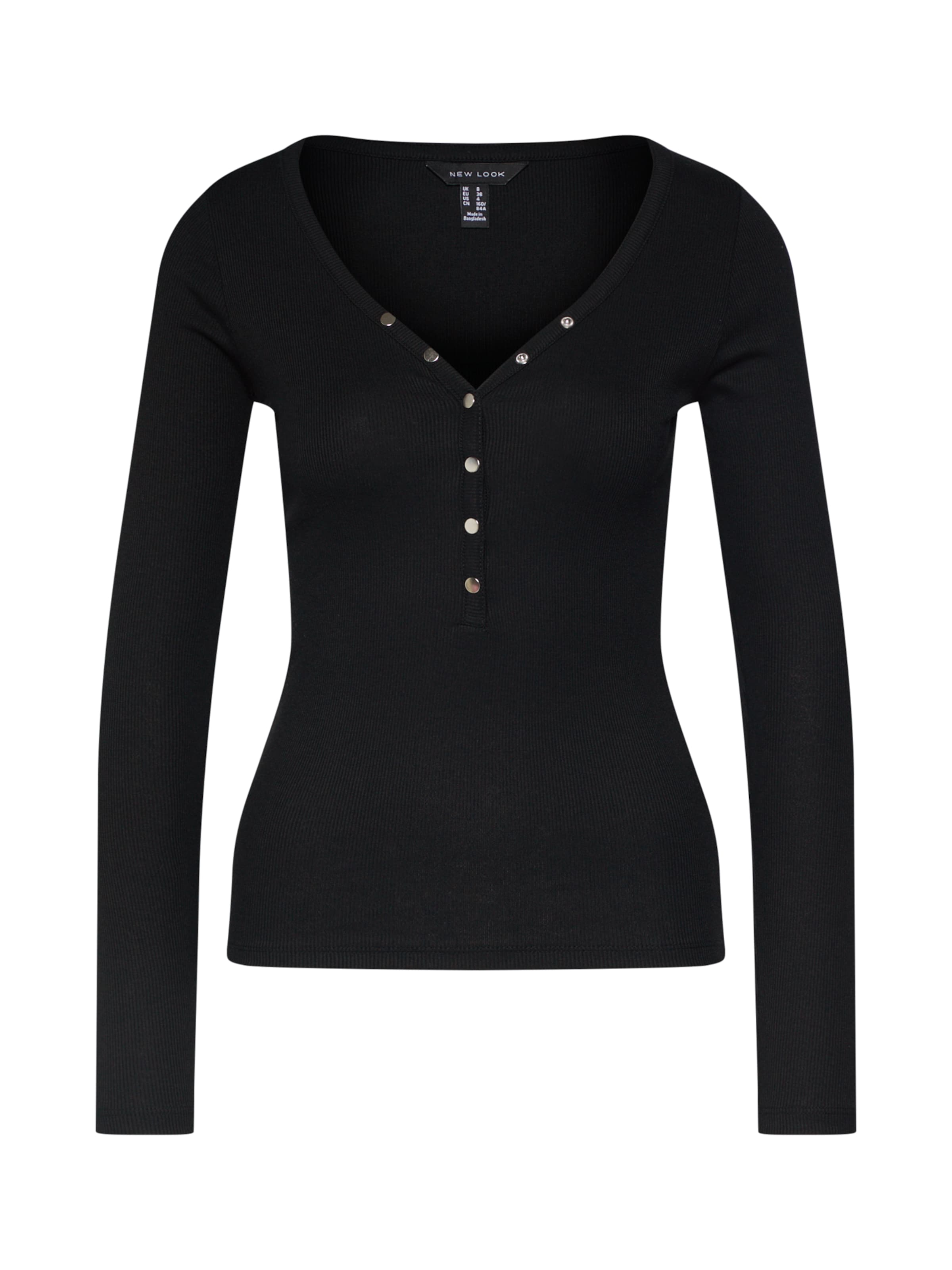 In 'neck Popper' Noir LookT shirt New kuZiXP