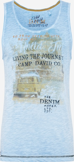 CAMP DAVID T-shirt i brun / gul / orange / svart, Produktvy