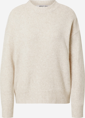 ABOUT YOU Pullover 'Kora' in Beige