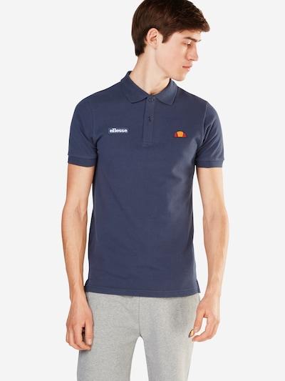 ELLESSE Shirt 'Montura' in dunkelblau / hellorange / weiß: Frontalansicht