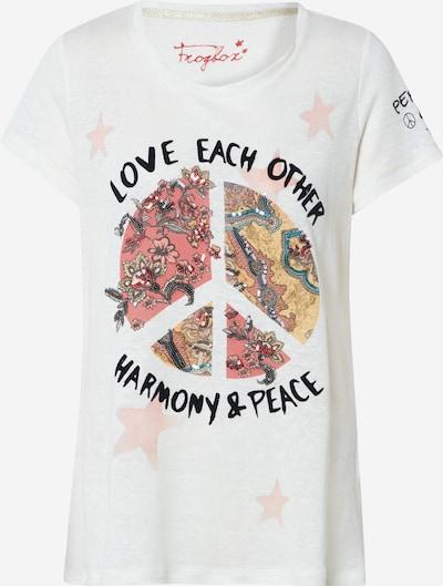 Frogbox Shirt 'Ethno peace t-shirt' in de kleur Wit, Productweergave