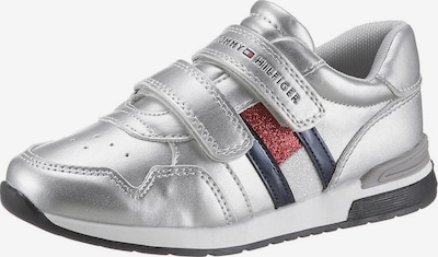TOMMY HILFIGER Sneaker in rot / schwarz / silber / weiß, Produktansicht
