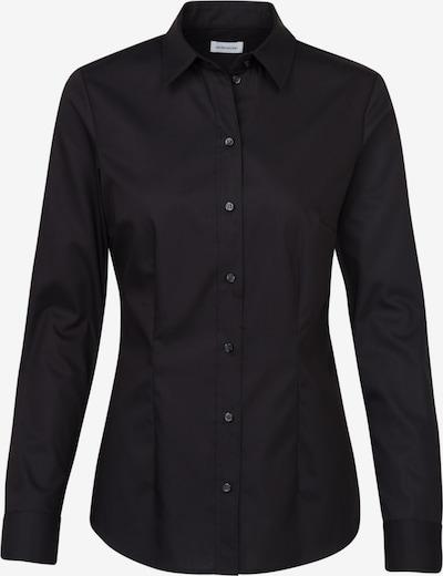 SEIDENSTICKER Hemdbluse ' Schwarze Rose ' in schwarz, Produktansicht