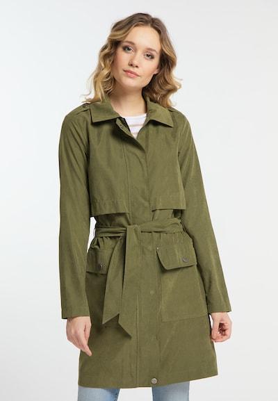 DREIMASTER Trenchcoat in oliv, Modelansicht