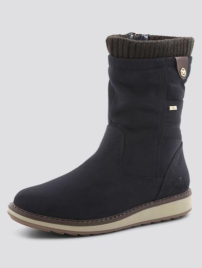 Auliniai batai su kulniuku iš TOM TAILOR , spalva - nakties mėlyna / tamsiai ruda, Prekių apžvalga