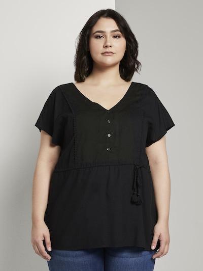 MY TRUE ME Blusenshirt in schwarz, Modelansicht
