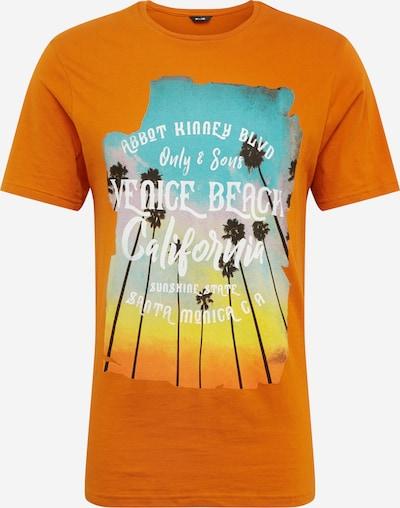 Only & Sons Koszulka 'ONSCANE' w kolorze pomarańczowo-czerwonym: Widok z przodu