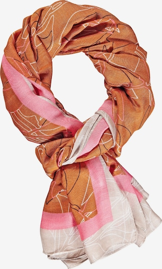 GERRY WEBER Schal in braun / rosa / weiß, Produktansicht