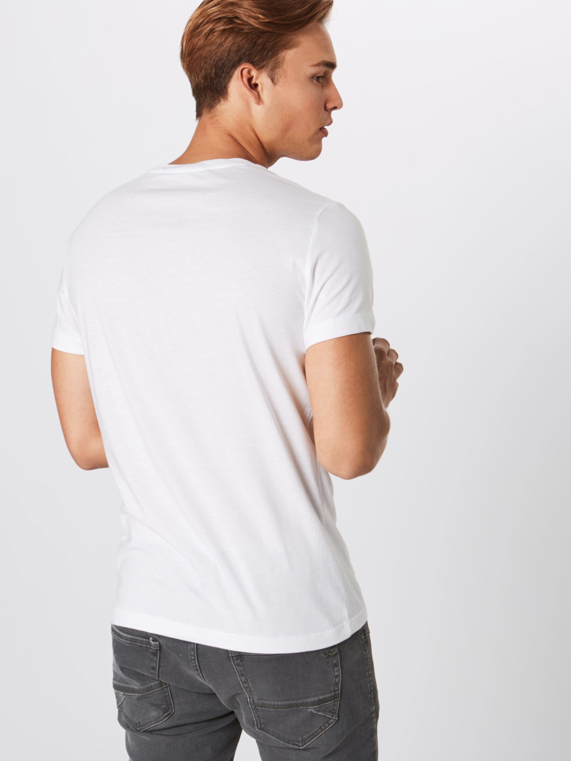 Klein 'core In Slim Wit Tee' Shirt Calvin Jeans Institutional Logo PNw8nO0kX