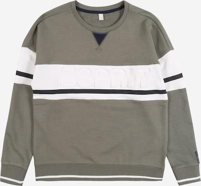 ESPRIT Sweatshirt in khaki / schwarz / weiß, Produktansicht