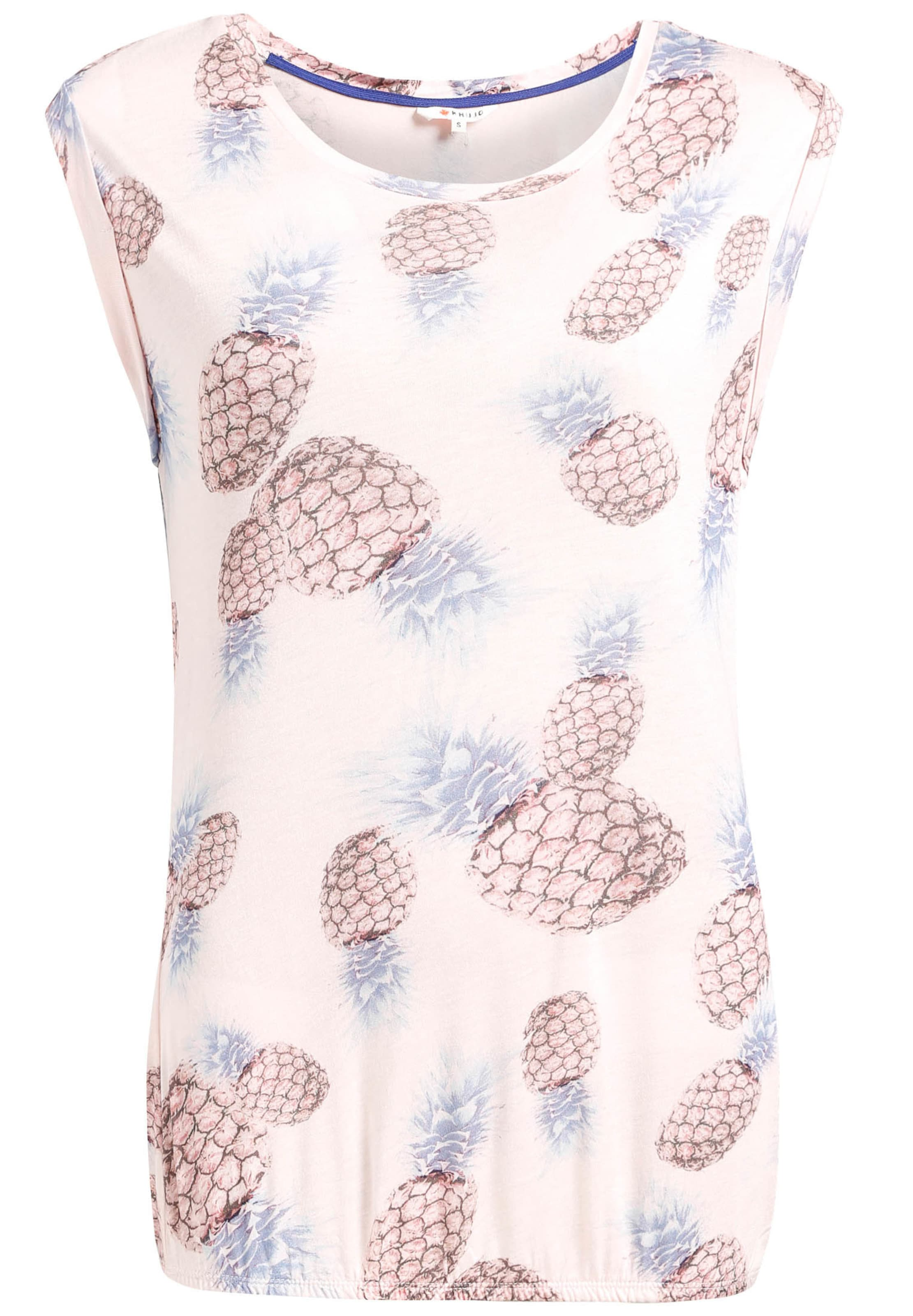 Khujo En Ancienne shirt ClairRose Blanc Print' Bleu T 'pique eWBdrCxo