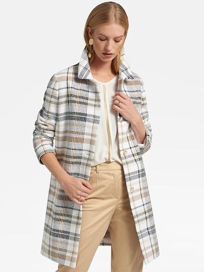 Basler Mantel in beige / navy / weiß, Modelansicht