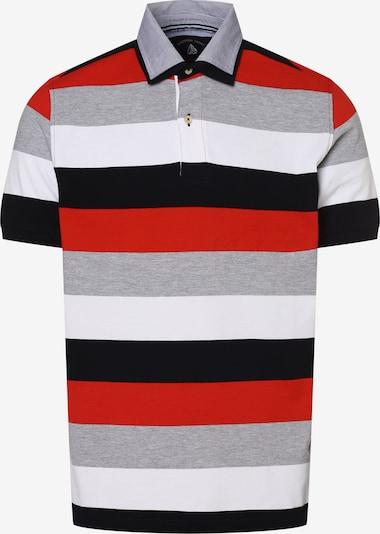 Andrew James Poloshirt in grau / rot / schwarz / weiß, Produktansicht