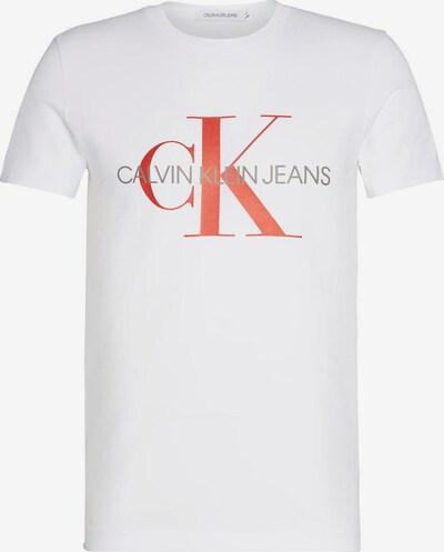 Calvin Klein Jeans Koszulka 'MONOGRAM' w kolorze pomarańczowo-czerwony / białym, Podgląd produktu