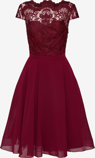 Chi Chi London Koktejl obleka 'CHI CHI SANI DRESS' | burgund barva: Frontalni pogled