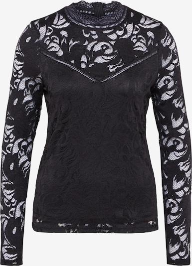 VILA Spitzenshirt 'Vistasia' in schwarz: Frontalansicht