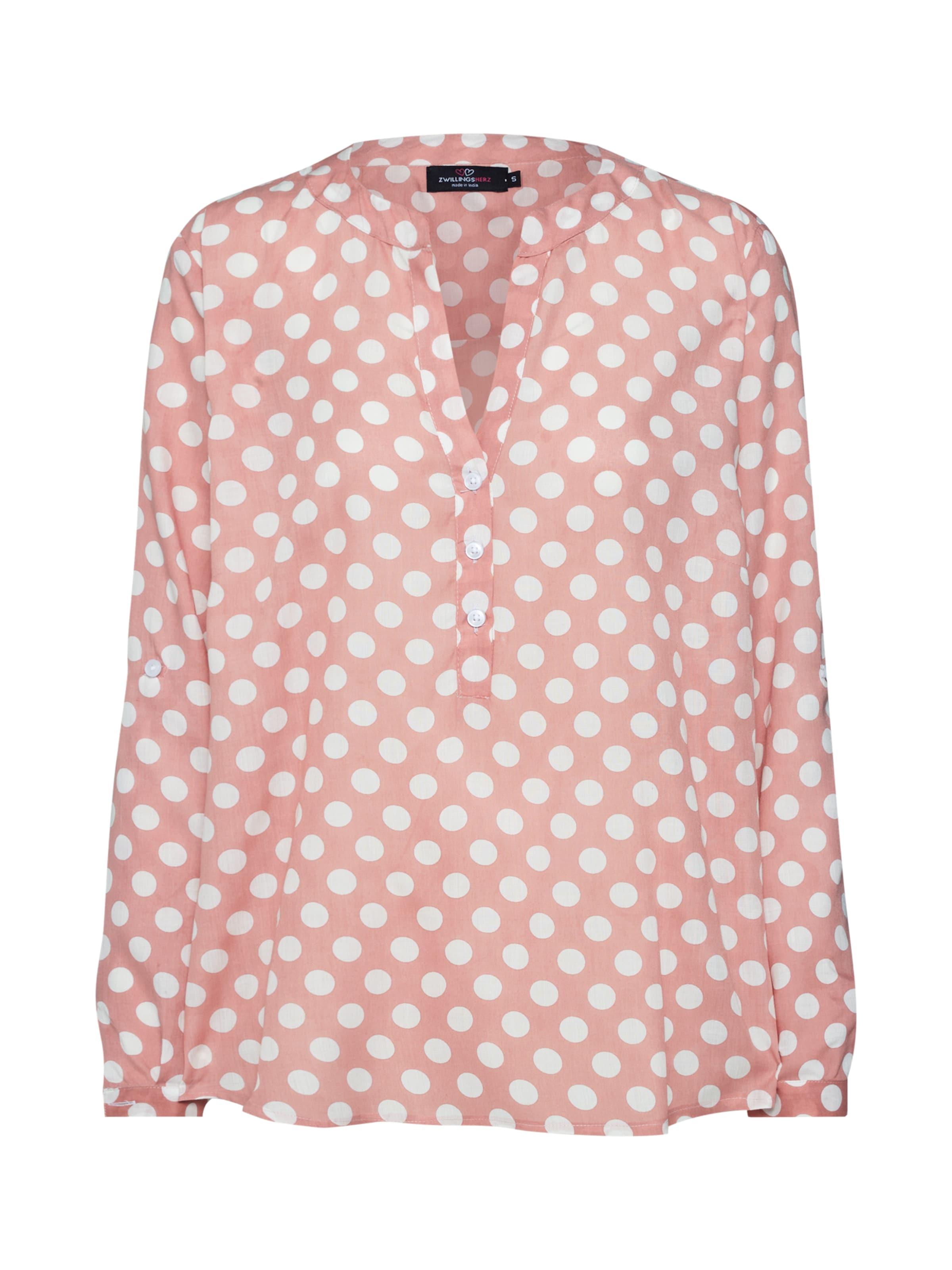 Bluse In Zwillingsherz Zwillingsherz In RosaWeiß RosaWeiß In Bluse Zwillingsherz Bluse N8mn0w