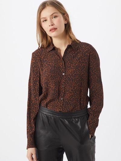 SET Bluse in blau / braun / schwarz, Modelansicht