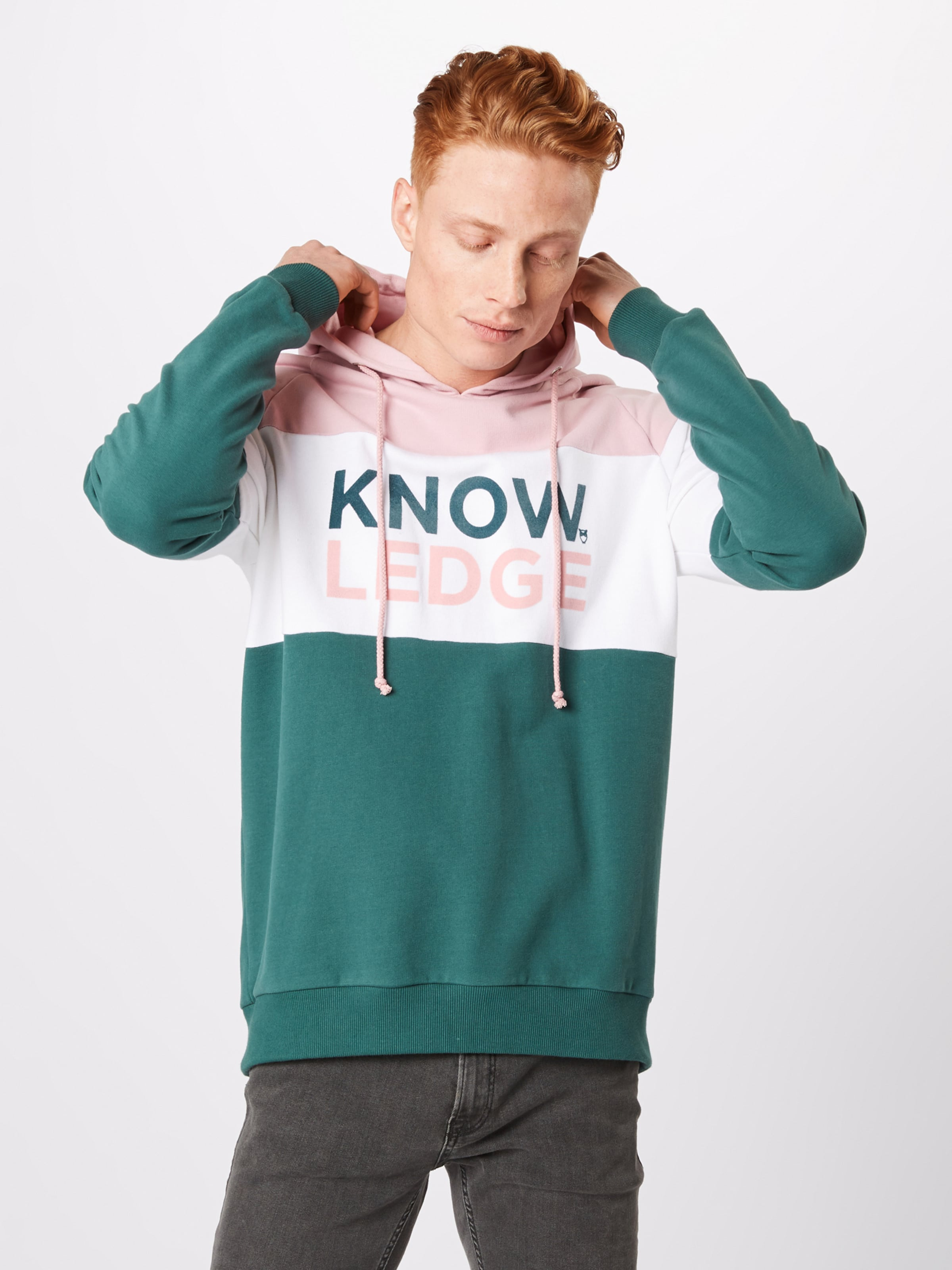 shirt Knowledgecotton En Blanc Apparel SapinRose Sweat TFlK1J3c