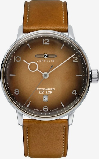 Zeppelin Quarzuhr in hellbraun, Produktansicht
