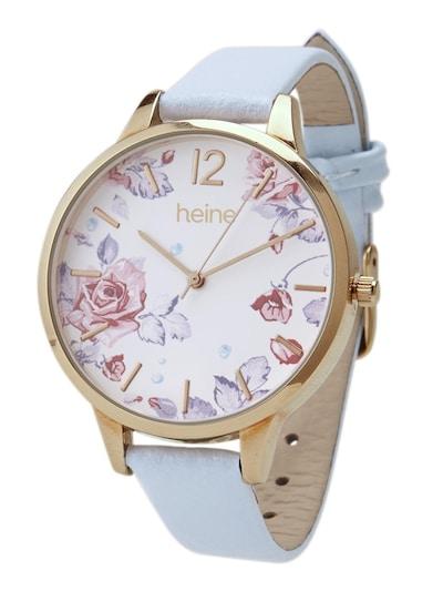 heine Armbanduhr in hellblau, Produktansicht