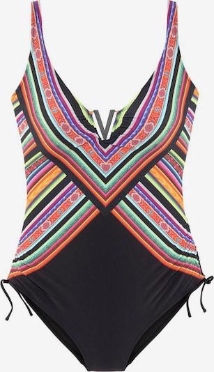 LASCANA Badeanzug in mischfarben / schwarz, Produktansicht