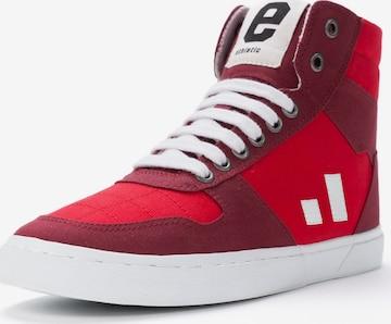 Ethletic High-Top Sneakers in Red