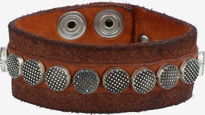 Campomaggi Armband 20 cm in braun / silber: Frontalansicht