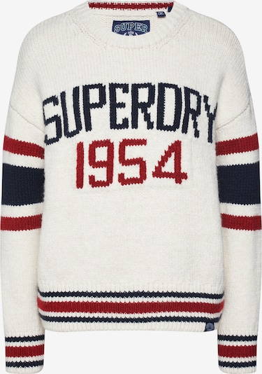 Superdry Pullover  'SUPERDRY INTARSIA SLOUCH KNIT' in blau / rot / weiß, Produktansicht