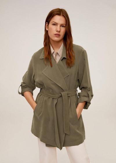 MANGO Přechodný kabát 'Guardapo' - khaki, Model/ka