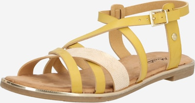 MUSTANG Sandale in braun / gelb, Produktansicht
