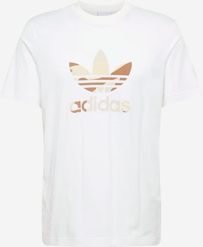 ADIDAS ORIGINALS T-Shirt 'Trefoil' in gold / weiß: Frontalansicht