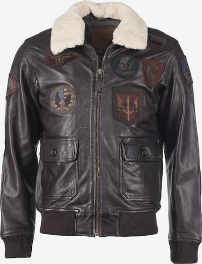 TOP GUN Jacke in dunkelbraun / mischfarben / weiß, Produktansicht