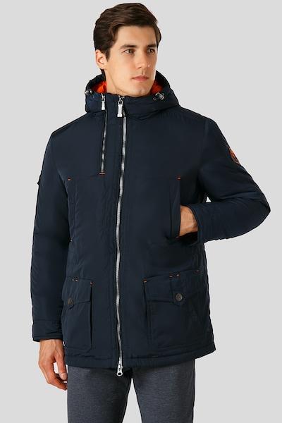Finn Flare Stylische Übergangsjacke mit praktischer Brusttasche in nachtblau: Frontalansicht