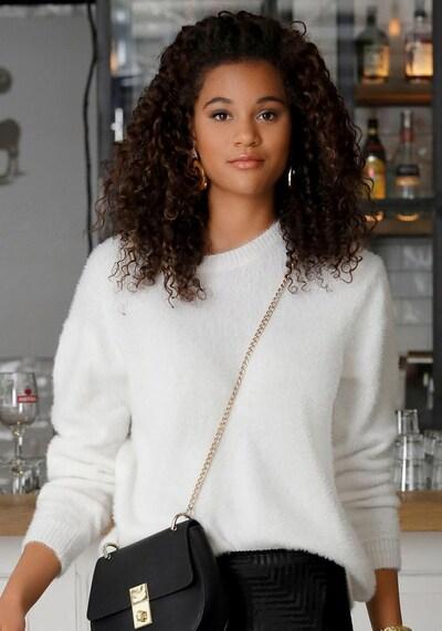 BUFFALO Sweter w kolorze białym, Podgląd na modelu(-ce)