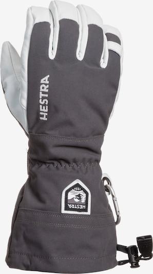 Hestra Sporthandschuhe in grau / weiß, Produktansicht
