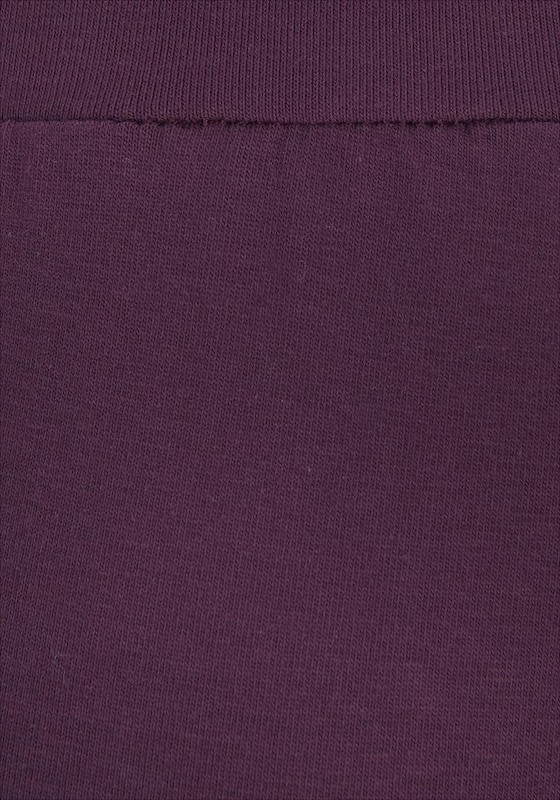 BENCH Leggings in bronze aubergine weiß | ABOUT YOU