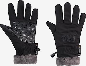 JACK WOLFSKIN Fingerhandschuhe in Schwarz