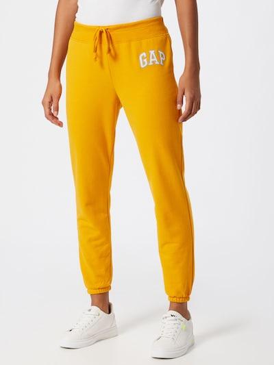 GAP Kalhoty 'FASH' - zlatě žlutá / bílá: Pohled zepředu