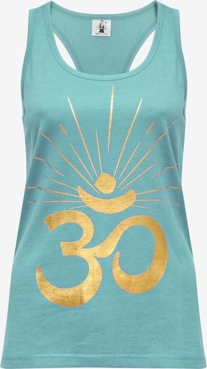"""YOGISTAR.COM Yoga-Top """"om Sunray"""" in hellblau, Produktansicht"""