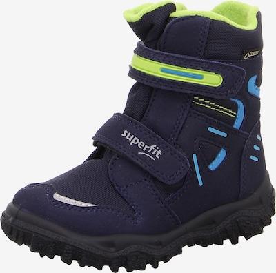 SUPERFIT Stiefel in blau / neongrün, Produktansicht