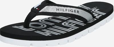 TOMMY HILFIGER Teenslipper in de kleur Zwart / Zilver, Productweergave