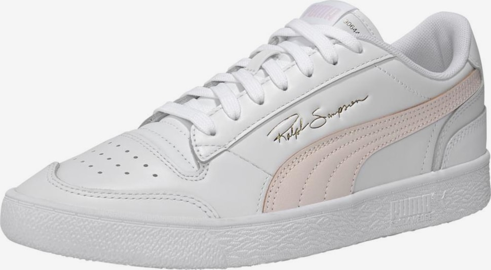 PUMA Baskets basses 'Ralph Sampson Low' en rose pastel / blanc, Vue avec produit