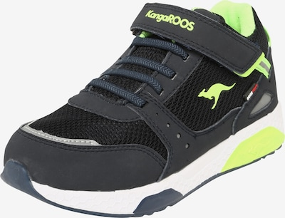 KangaROOS Sneakers 'Kadee Taro RTX' in de kleur Navy / Limoen: Vooraanzicht