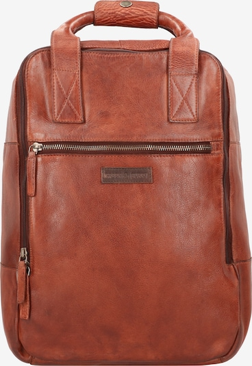 GREENBURRY Rugzak 'Vintage Washed' in Cognac 3rZqgpfo