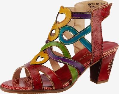 Laura Vita Hucto 07 Klassische Sandaletten in blau / gelb / grün / rot, Produktansicht