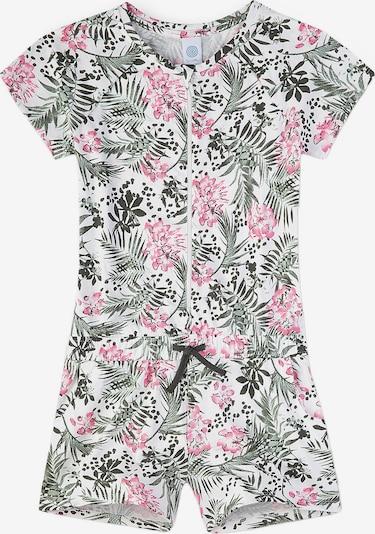 SANETTA Schlafanzug in dunkelgrün / rosa, Produktansicht