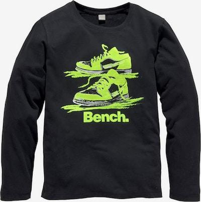 BENCH Shirt in neongrün / schwarz, Produktansicht